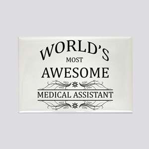 World's Most Awesome Medical Assistant Rectangle M
