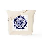 Masonic Blue Lodge Crystal Burst Tote Bag