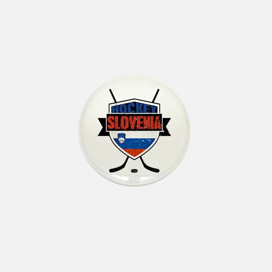 Hockey Hokej Slovenia Shield Mini Button