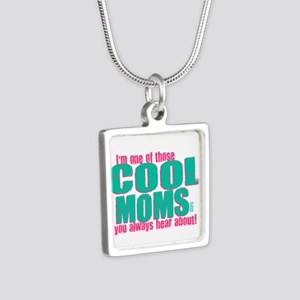 Cool Mom Silver Square Necklace