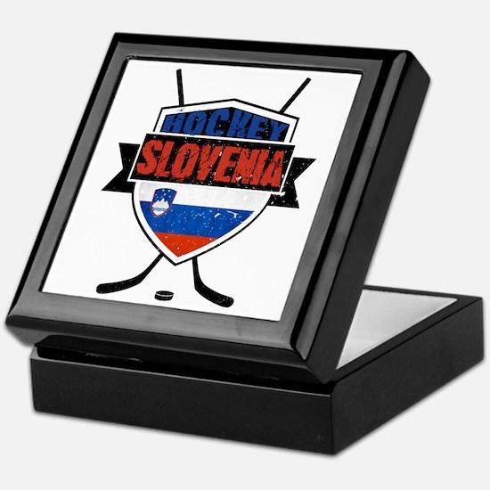 Hockey Hokej Slovenia Shield Keepsake Box