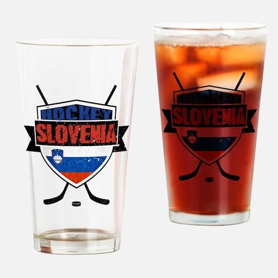 Hockey Hokej Slovenia Shield Drinking Glass