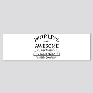 World's Most Awesome Dental Hygienist Sticker (Bum