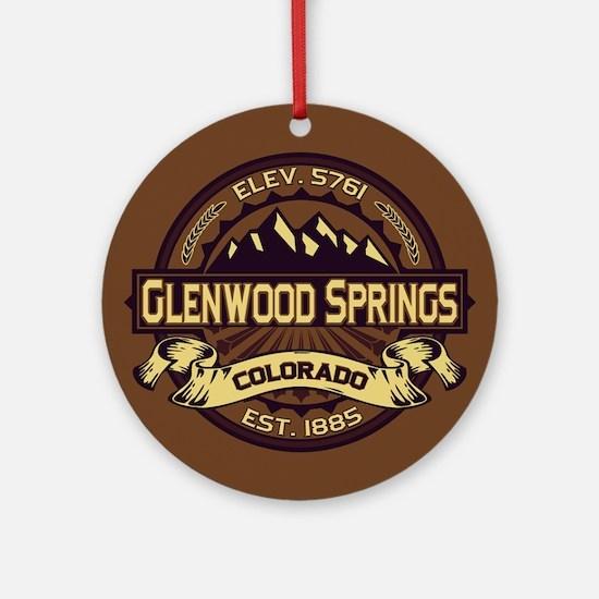 Glenwood Springs Sepia Ornament (Round)