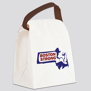 Boston Strong Bicep Red/White/Blue Canvas Lunch Ba
