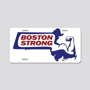 Boston Strong Bicep Red/White/Blue Aluminum Licens