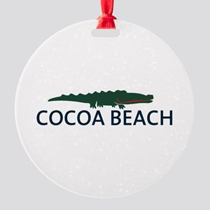 Cocoa Beach - Alligator Design. Round Ornament