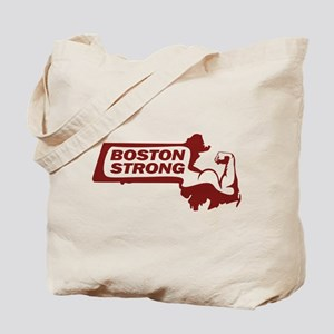 Boston Strong Bicep Red Tote Bag