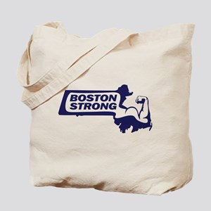 Boston Strong Bicep Blue Tote Bag