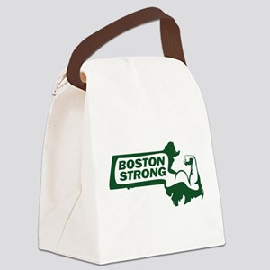 Boston Strong Bicep Green Canvas Lunch Bag