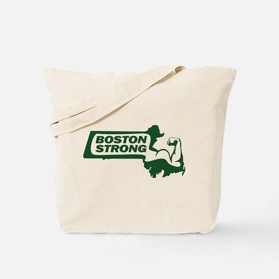 Boston Strong Bicep Green Tote Bag