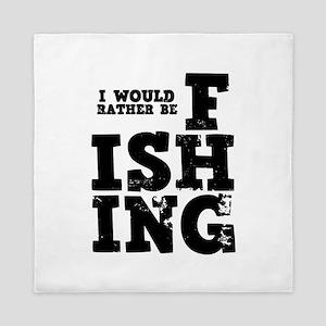 'Rather Be Fishing' Queen Duvet