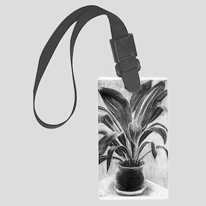 Charcoal Houseplant Luggage Tag