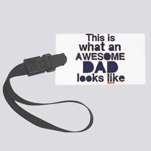 Awesome Dad Large Luggage Tag