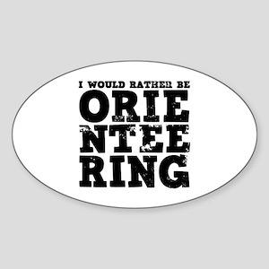 'Orienteering' Sticker (Oval)