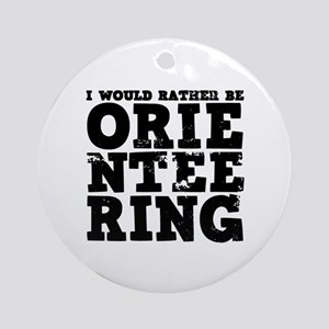 'Orienteering' Ornament (Round)