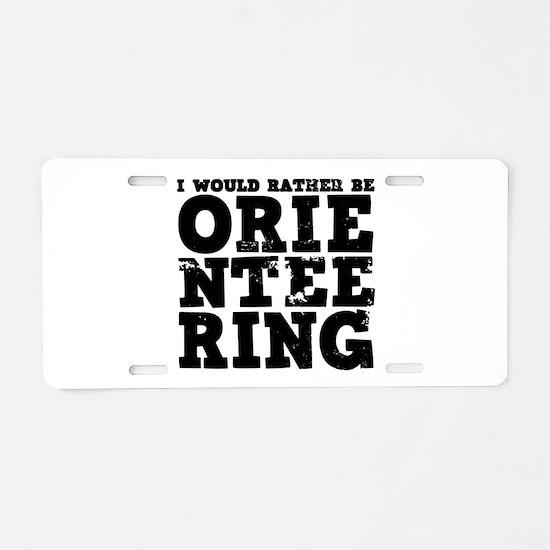 'Orienteering' Aluminum License Plate