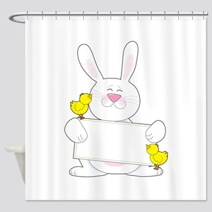 Bunny Sign Shower Curtain
