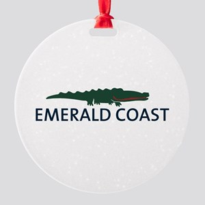 Emerald Coast - Alligator Design. Round Ornament