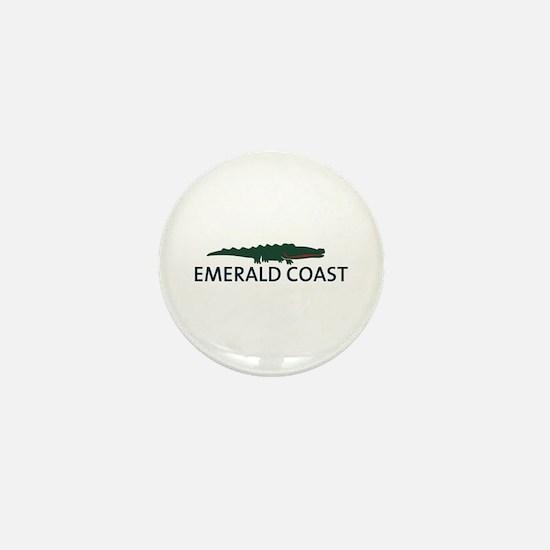 Emerald Coast - Alligator Design. Mini Button