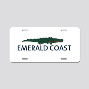 Emerald Coast - Alligator Design. Aluminum License