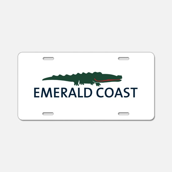 Emerald Coast - Alligator Design. Aluminum License
