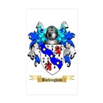 Buckingham Sticker (Rectangle 10 pk)