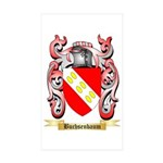 Buchsenbaum Sticker (Rectangle 50 pk)