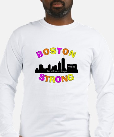 BOSTON STRONG CURVED 3 Long Sleeve T-Shirt