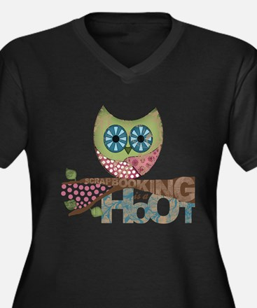 Scrapbooking is a Hoot - Plus Size T-Shirt