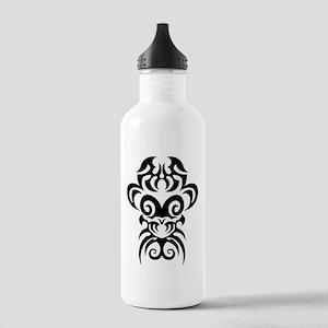 Maori tribal face Water Bottle