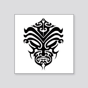 "maori warrior face Square Sticker 3"" x 3"""