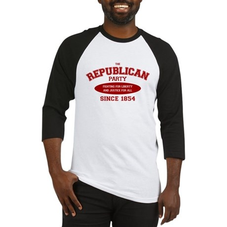 Republican Since 1854 (red print, oval) Baseball J