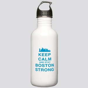 Keep Calm and Boston Strong Stainless Water Bottle