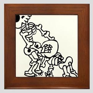 Blowjob bones Framed Tile