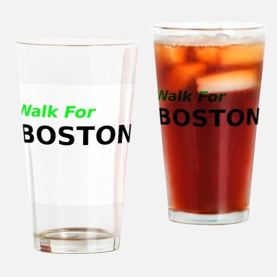 Walk for Boston Drinking Glass