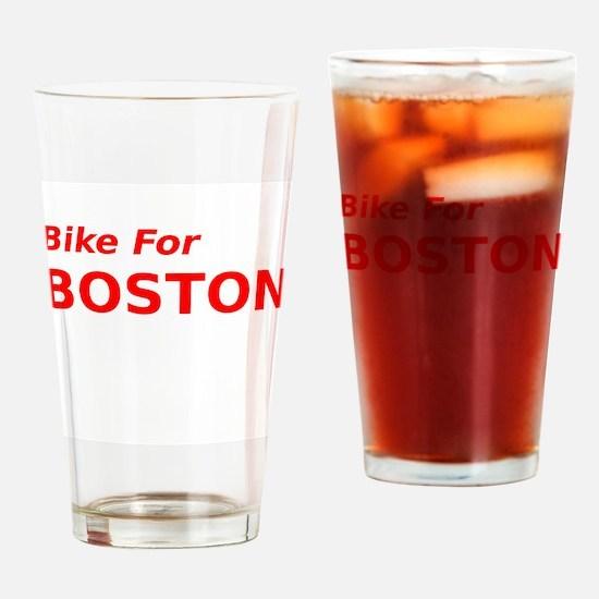 Bike for Boston Drinking Glass
