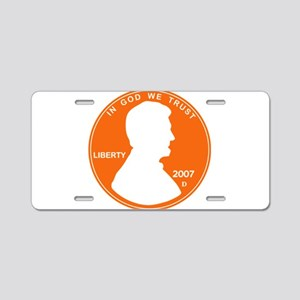 Penny Lincoln Cut Out Aluminum License Plate