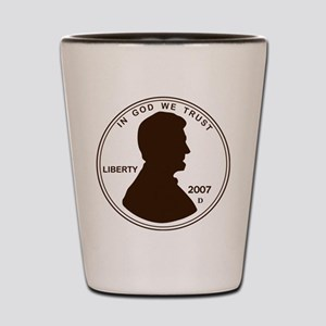 Penny Lincoln Silhouette Shot Glass