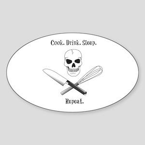 Cook. Drink. Sleep. Sticker