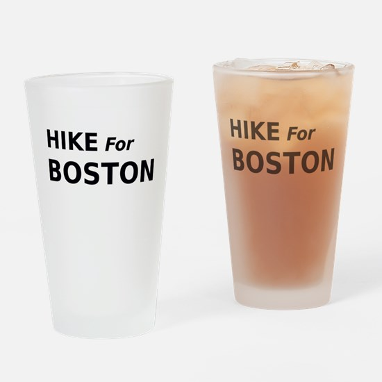 Hike for Boston Drinking Glass