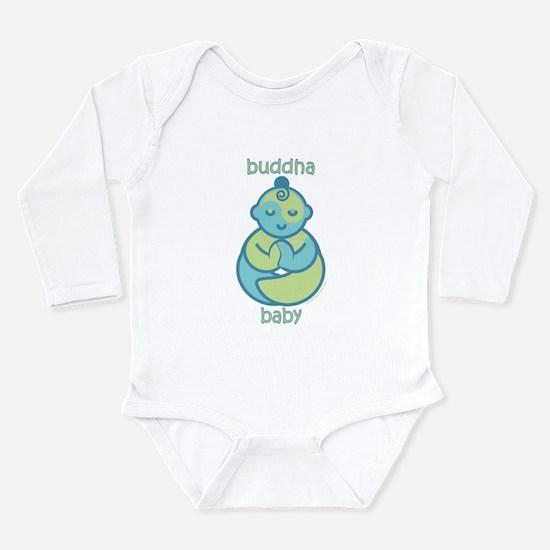 Happy Buddha Baby : Blue & Green Body Suit