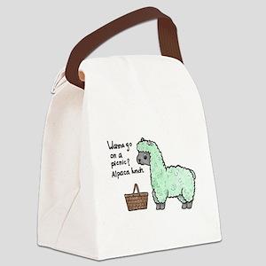 Alpaca Lunch Canvas Lunch Bag