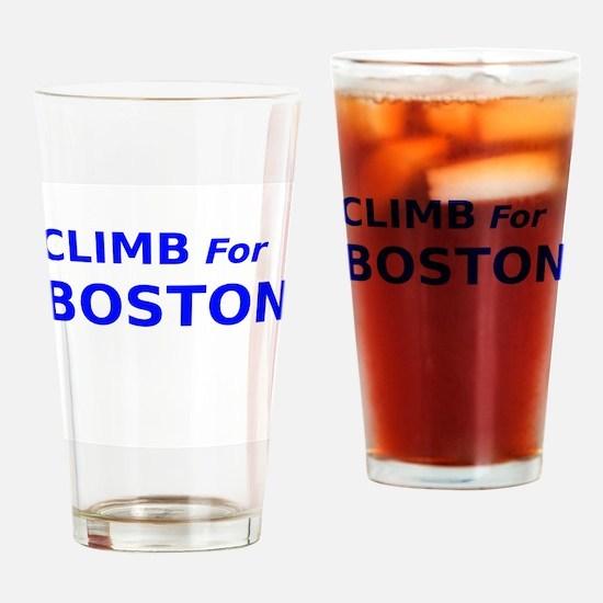 Climb for Boston Drinking Glass