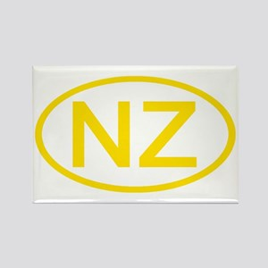 New Zealand - NZ Oval Rectangle Magnet