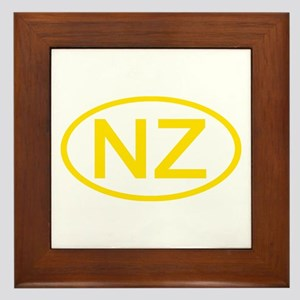 New Zealand - NZ Oval Framed Tile