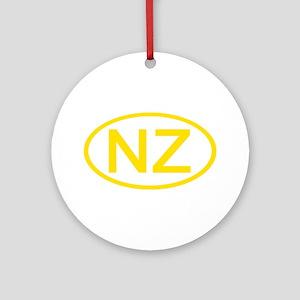 New Zealand - NZ Oval Ornament (Round)