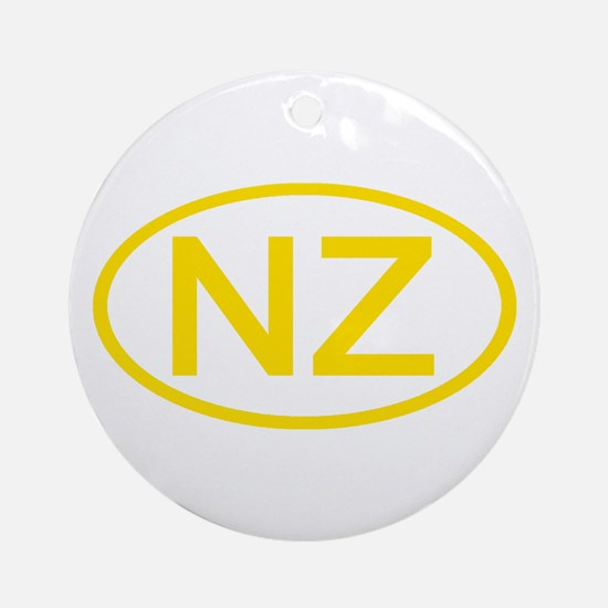 New Zealand - NZ Oval Ornament (Round)
