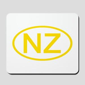 New Zealand - NZ Oval Mousepad