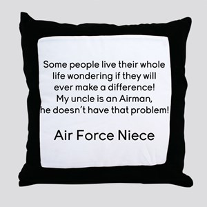 AF Niece No Prob for Uncle Throw Pillow